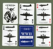 Vintage Collectible  playing cards courts World War ll spotter c